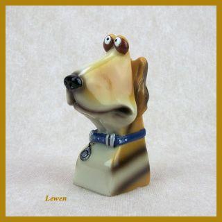 Muzeum Nose. Enesco. Brillenträger. Animal Eyeglass Holders. Hund