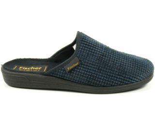 Schuhe Hausschuhe Pantoffeln Frank blau schwarz 424233 552