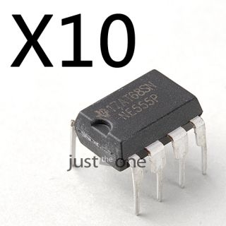 10 Stücke NE555 NE555P 555 Timers DIP 8 TI Integrierter Schaltungen