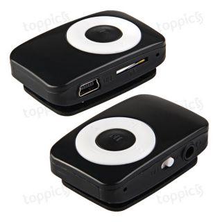 8GB USB Mini  Musik Player Spieler mit Clip Schwarz