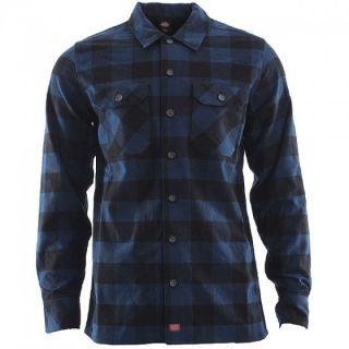 Dickies   Sanderson Shirt   Blau Schwarz   Baumfällerhemd   Neu & OVP