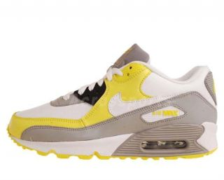 Nike Wmns Air Max 90 White Grey Yellow Womens Running Shoes 325213 110