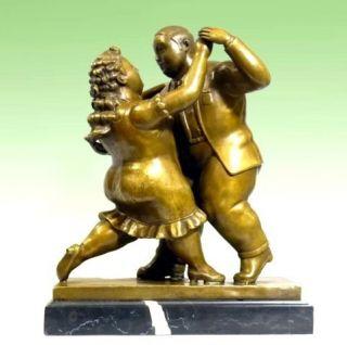 MODERN ART Bronze TÄNZER   XXL TANZPAAR signiert BOTERO