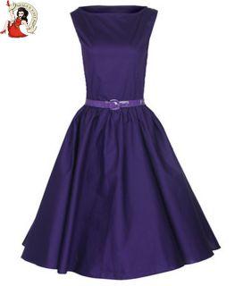 Damen Kleid Vintage Lindy Bop 50s Audrey Hepburn Stil Abend Cocktail