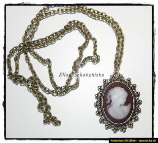 Vintage Kette Katherine Necklace Vampire Diaries Vampir Gemme Cameo