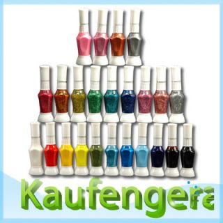 24 Farben Nail Art Pen Nagellack Set & brush Pinsel 2 Way bestpreis