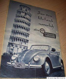 Gute Fahrt 1954  VW Käfer KARMANN Cabrio Ad OVALi split Brezel Bus