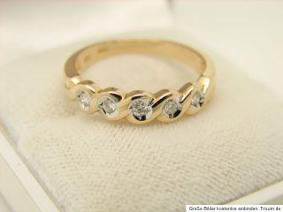 Halb Memory Brillant Ring 585er 14kt Gold Goldschmuck Schmuck Diamant