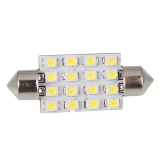 Interior 16 LED White SMD light 3528 Dome lamp Bulb 211 2 212 2 578