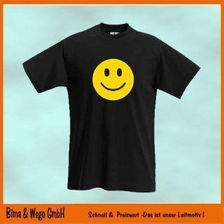 SMILEY Fun Shirt gelber Druck T Shirt Gr. S XXL 10 565