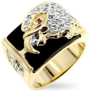 Isady – Tekoa   Herren Ring   585er 14K Gold platiert Zirconium