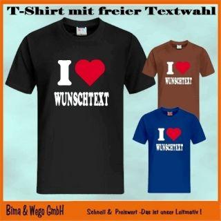 LIEBE Wunschtext T Shirt Text kann frei gewählt werden 10 568
