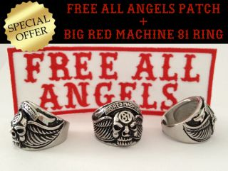 666 HELLS SUPPORT 81 RING BRM & FREE ALL ANGELS Patch Aufnäher NOMADS