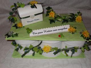 Hochzeit Torte Geldgeschenk Geschenk  Kröten z.Ausgeben