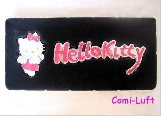 Neu Hello Kitty Auto Aufkleber Sticker Aus Metall Pink & Weiss