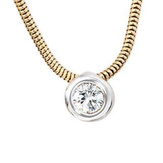 mit Anhänger mit Diamant Brillant & 585 Gold, Collier Damen