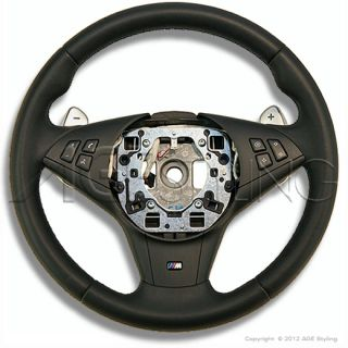 BMW M5 E60 & M6 E63 E64 Leather Steering Wheel with SMG shifters *NEW