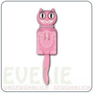 Miss Kitty Cat Uhr Wanduhr Katze Classic USA pink rosa