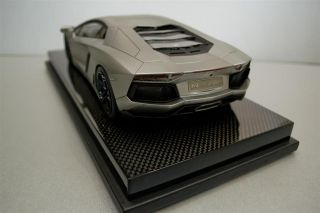 MR COLLECTION 1/18 Lamborghini Aventador ANTERAS GREY w/CARBON DISPLAY