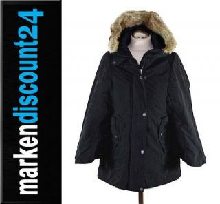 Bench Damen Winter Jacke Mantel Parka Honcho Poncho BLKA1581 schwarz