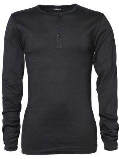 Henley Longsleeve Langarm T Shirt mit Knopfleiste von TeeJay Opa Shirt