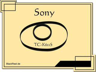 Sony TC K611S Riemen rubber belts Cassette Tape Deck