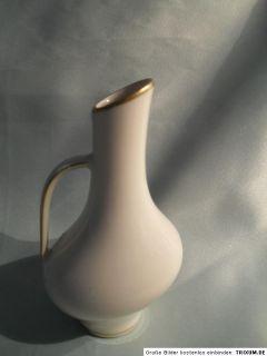 Vase von Edelstein Bavaria mit Goldrand, gemarkt 630   9762