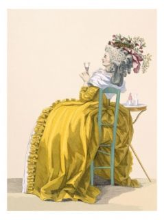 Lady Reclines on Chair Drinking Champagne, Engraved by Dupin, Plate No.193 Giclee Print by Francois Louis Joseph Watteau