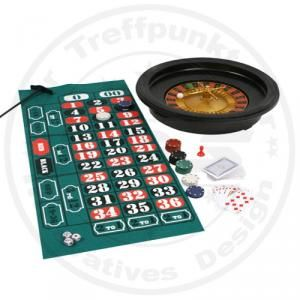 Casino Games Deluxe Roulette Edition mit Karten Black Jack Chips