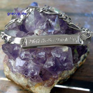Armband  Ich liebe dich  mit Gravur 925 Silber i645