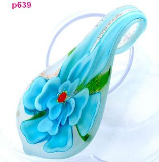 new style handmade flower lampwork Murano art glass beaded pendant
