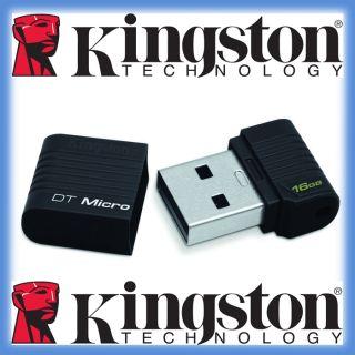 16GB Micro USB STICK KINGSTON Black  Schwarz nur ca. 25mm NEU OVP