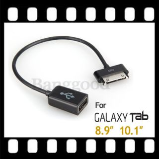 Black USB OTG Host Cable For SAMSUNG GALAXY TAB 10.1/8.9 P7510 P7500