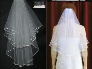 Beaded white wedding dress Bridal/Bridesmaid Veil +Comb