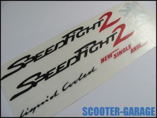 AUFKLEBER / STICKER / SET [Peugeot Speedfight 2 LC] SCHWARZ / ROT