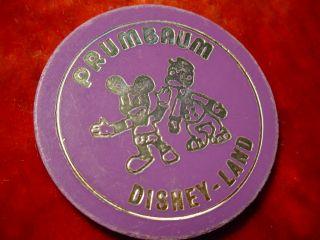 DISNEYLAND FAHRCHIP 1 Fahrt Micky Maus Disney Jeton MICKEY MOUSE 647