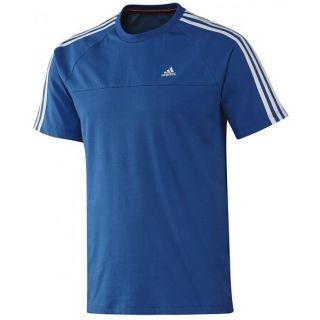 Adidas Ess 3S Crew Tee Blue T Shirt Herren