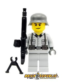 LEGO Custom Minifig WWII German SS Soldier Brickarms