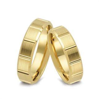 Gold Trauringe Eheringe Diamant Brillant 585 Gelbgold ER47 Paarpreis