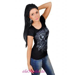 SeXy Damen Shirt Tunika Longshirt Top T Shirt Bluse Gr. 36 38 S M 3104