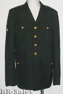 US Army Men Dress Green Uniform Jacket Coat 38 regular