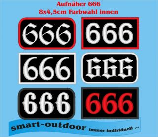 Aufnäher 666 Patch Rechteck Metal Rocker Biker Kutte ( the Beast