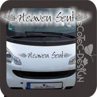 A667 Heaven Sent Autoaufkleber Flügel Engel Aufkleber