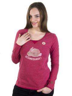 Adelheid Schneehase Langarmleibchen Wohlfühl Longsleeve T shirt mit