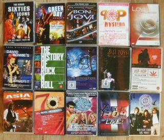 15 DVD ROCK MUSIK SAMMLUNG BON JOVI ELP EMERSON LAKE PALMER ASIA GREEN