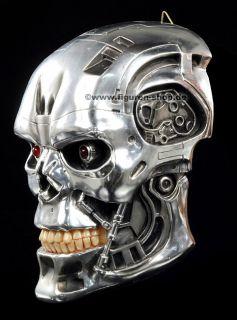 Original Terminator Schädel LED Wandrelief Figur Statue Totenkopf
