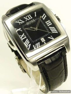 Hugo Boss black Herren Uhr Herrenuhr NEU Lederband schwarz HB 1512498