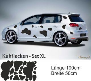 Kuh Kuhflecken Set XL Styling Tribal Tattoo Autoaufkleber Carstyling