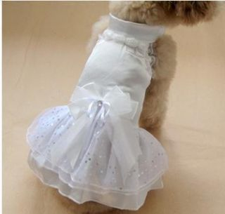 Pet Dog Strawberry Heart Apparel Clothes Costume Jeans Dress Skirt S M