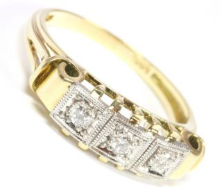 14kt 585 Damen Brillant Gold Ring Brillantring Brilliant Brillanten
